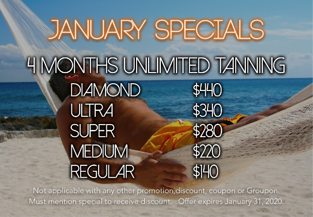 An image of the January Specials